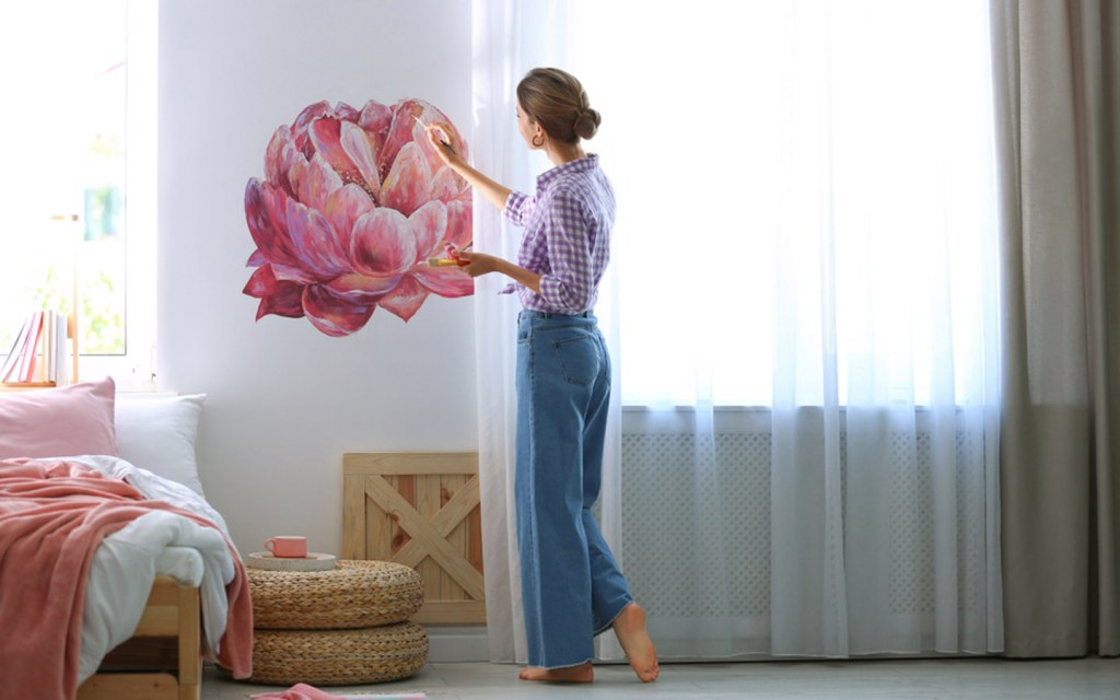 make use of your creative side and paint a wall