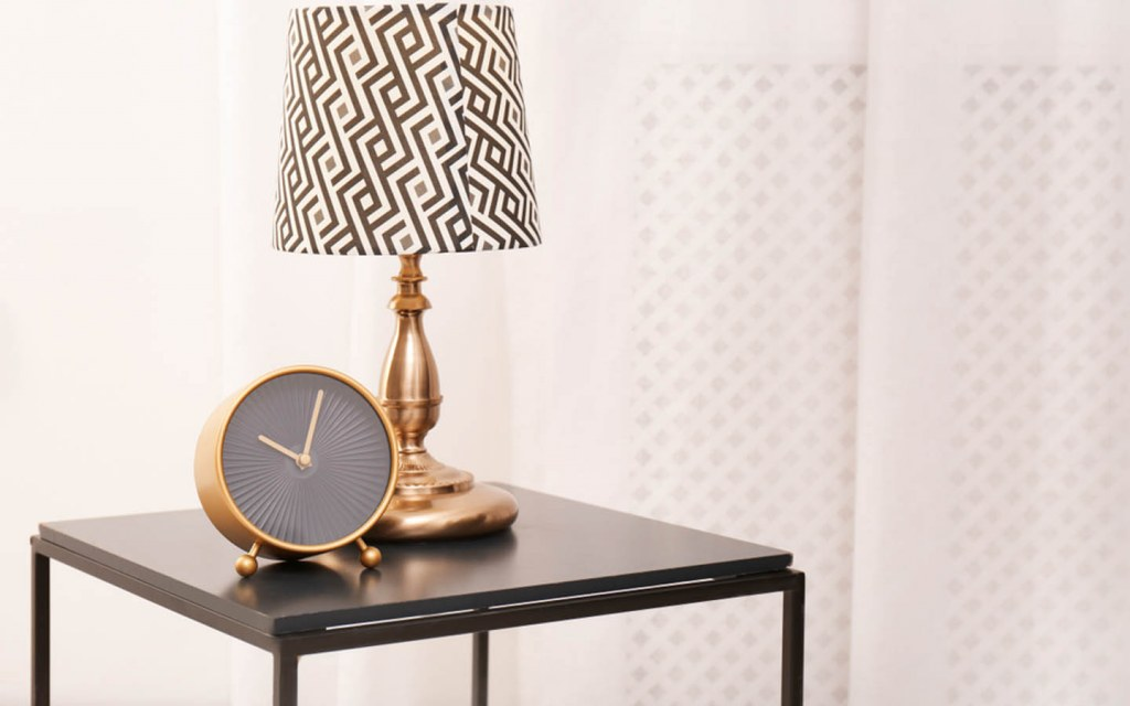 replace lampshades to freshen up home decorations