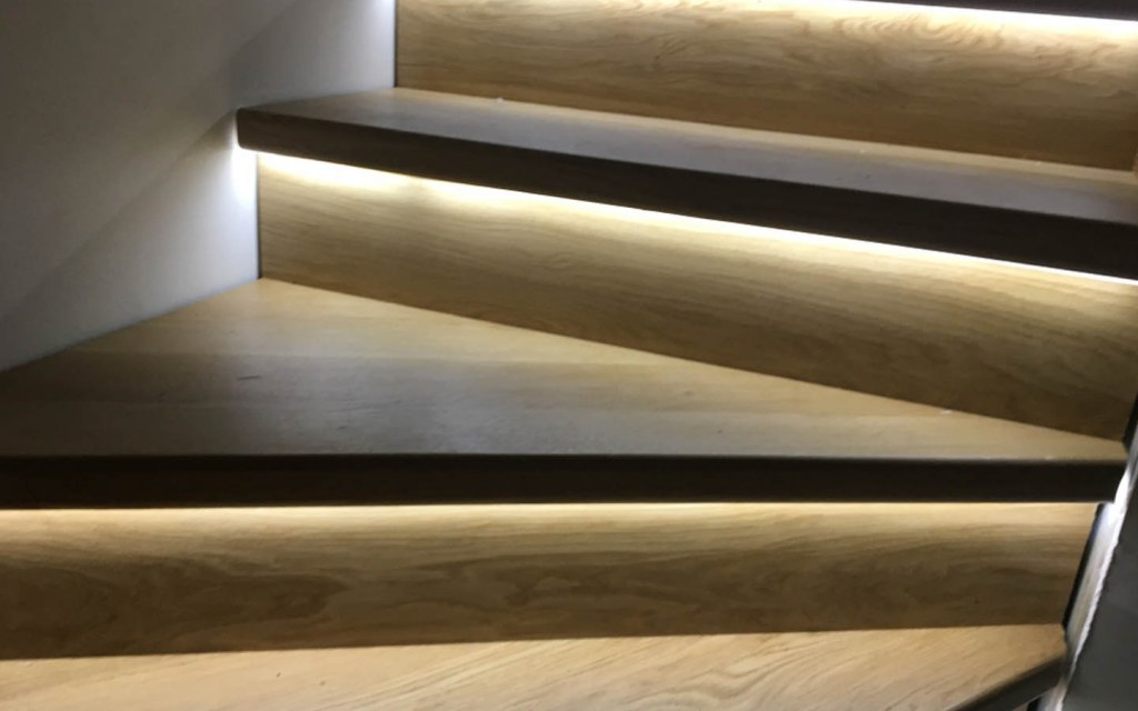 Add lights to the staircase for better visibility