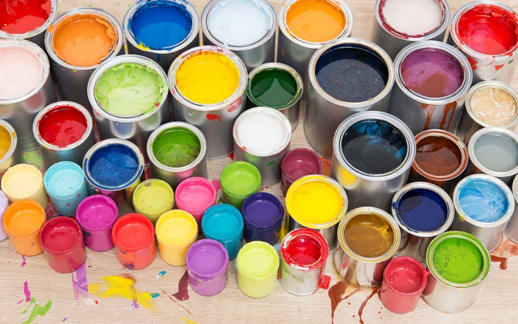 Water-based and oil-based paints