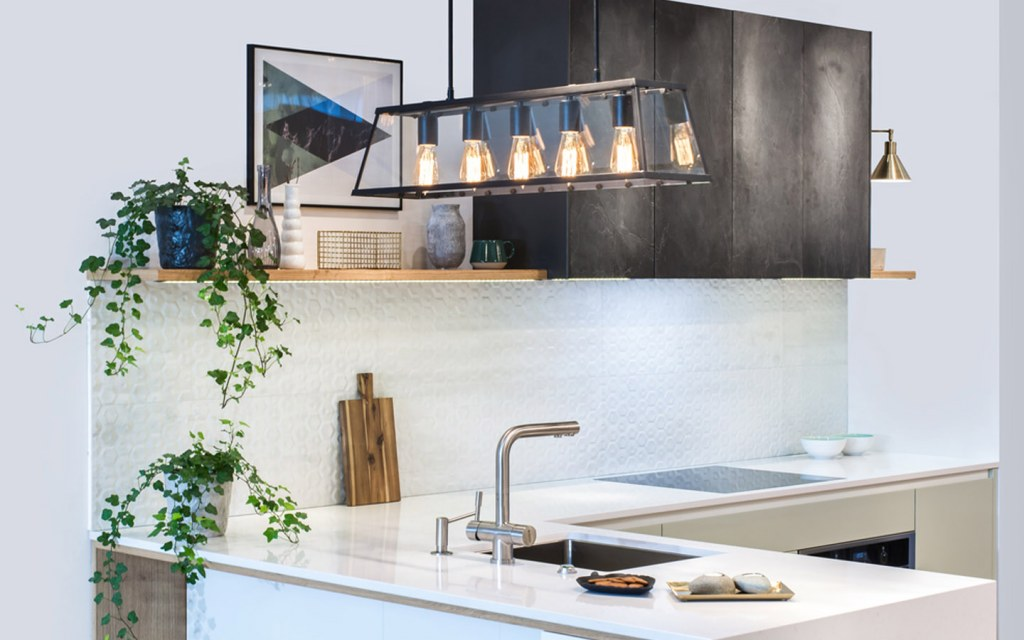 linear pendant lights for the kitchen