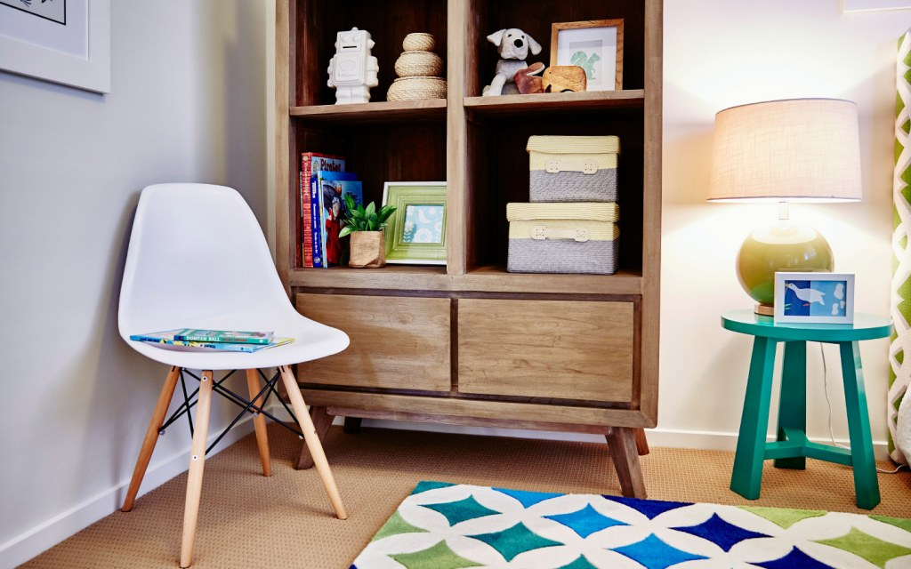 Add a bookshelf to create a reading corner in your teenage kid's bedroom