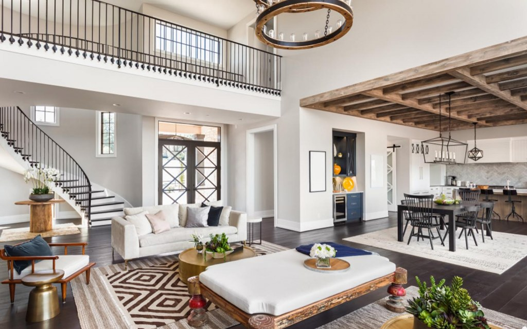 use rugs to break up an open plan room