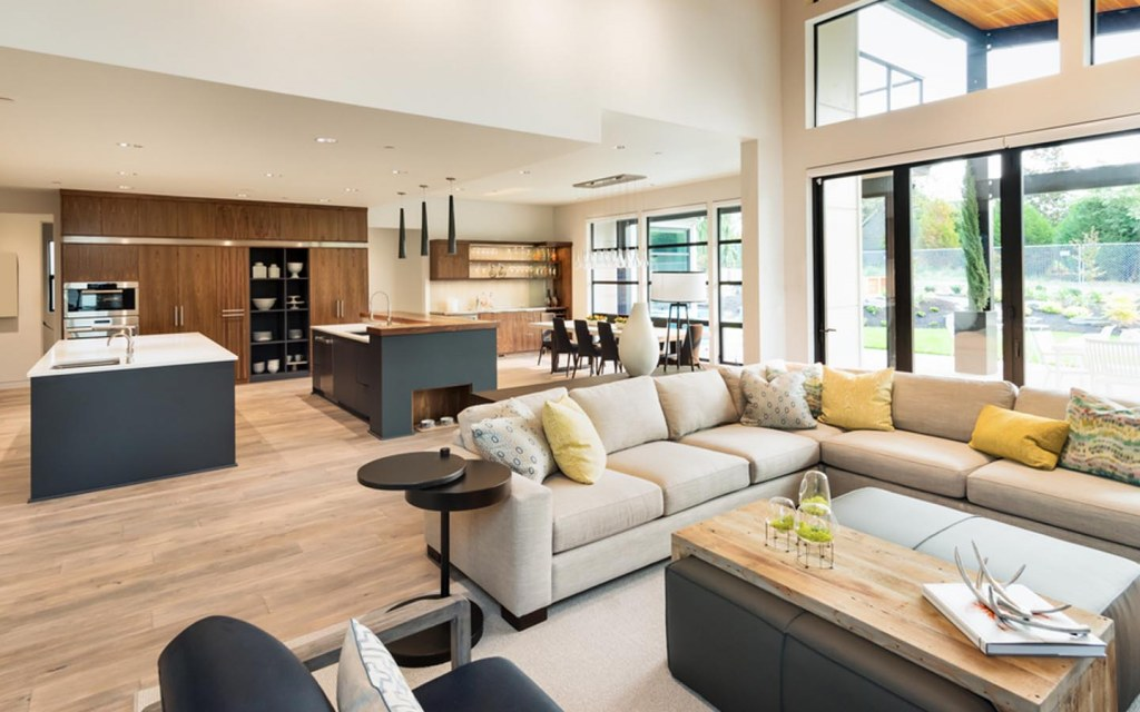 arranging furniture in open-plan spaces